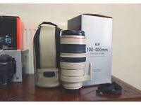 Canon Zoom Telephoto EF 100-400mm f/4.5-5.6L IS (Image Stabilizer) USM Autofocus Lens