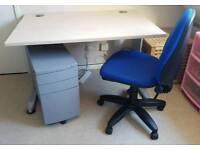 Desk, chair and locker