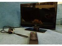 19 inch Alba tv freeview hdmi with wall fittings