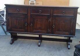 """sideboard, Dark wood tone, width 56"""" Height 34"""""""