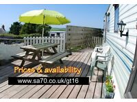 September October dates - Modern caravan 35 x 12 with sea view, Tenby, pembrokeshire, the wales