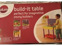 New in box - Wooden Plum Build it table for bricks like lego / duplo