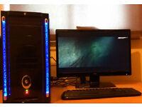 Gaming PC AMD FX 4 x 4.2GHz Radeon R9 380 256bit 8GB RAM 1TB HDD DVDRW Win10 Pro very good condition