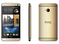 HTC one M7. Gold, unlocked, cosmetic used. £80 fixed price