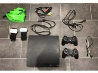 PlayStation 3 slim! 27 games 2 controllers MINT