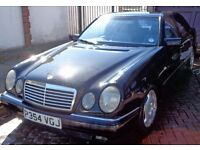 MERCEDES E CLASS E230 CAR BLACK AUTO AVANTGARDE GREY LEATHER