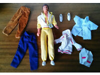 Vintage 1980's Ken Doll + Clothes