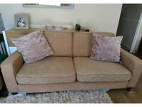 Sofa Workshop Brown 3 Seater Sofa, DELIVERY AVAILABLE