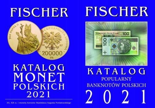 POLAND KATALOG MONET POLSKICH + KATALOG BANKNOTÓW FISCHER 2021 NEW