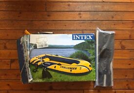 *New* Intex Challenger 3 - three person inflatable dinghy with oars and pump