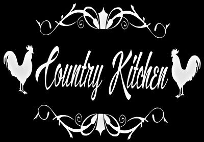 Country Kitchen Door Vinyl Decal Sticker Sign Kitchen   Home Wall Lettering