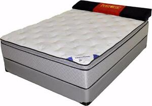 "Brand-New Restonic EASTON Pillow-Top Mattress and Box : S/D/Q/K (13"" Thickness)"