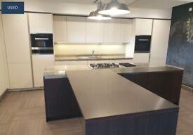 Used Designer SieMatic Kitchen in Hazel Brown & White Matt Lacquer