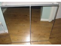 Good Mirrored bathroom cabinet with Glass shelves