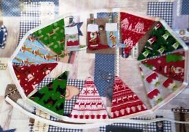 Handmade Double Sided Christmas Bunting Banner