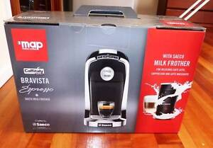 Bravista Espresso Machine and Saeco Milk Frother - NEW IN BOX Weetangera Belconnen Area Preview