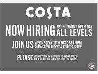 Costa Coffee Careers- Glasgow