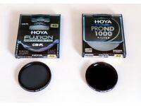Hoya 49mm professional photo filters.