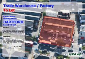 Warehouse/Factory to Let in Dartford less than 1 mile from M25