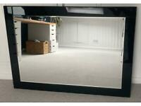 Glass mirror - Black frame