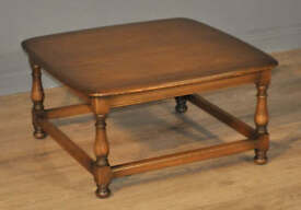 Attractive Vintage Ercol Elm Square Shaped Coffee Side Table