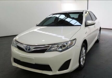 From only $77 p/week on finance* 2012 TOYOTA CAMRY HYBRID WHITE