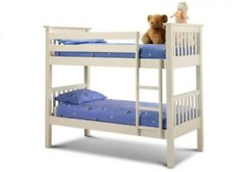 Julian Bowen Barcelona White Bunk Beds