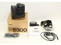 professional Nikon D300 12.3MP Digital SLR Camera Body With Battery Grip Shutter Count 6,004