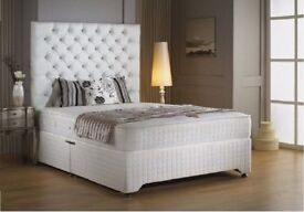 💫💫 SPECIAL PROMOTION 💫💫 BRAND NEW DOUBLE DIVAN BED BASE WITH MEMORY FOAM ORTHOPAEDIC MATTRESS