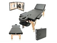 IMPERIAL DELUXE LIGHTWEIGHT BLACK THREE SECTION PORTABLE MASSAGE TABLE