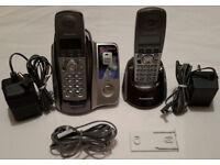 PANASONIC KX-TCD222 Cordless Two Telephones & Answering Machine £4! MUST GO! READ!