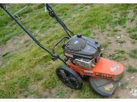 DR PRO XL 875 self propelled wheeled strimmer / trimmer / mower with electric start, hardly used.