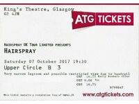 Two HAIRSPRAY tickets - Sat 7th October - 7.30pm