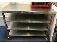 2 Stainless Steel Work Stations