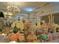 Deluxe Photo Booth Hire and Decorated Candy Table Offer For Weddings And Parties