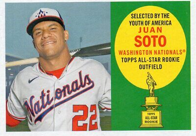 2020 Topps Archives 1960 Topps All-Star Rookie Juan Soto Nationals