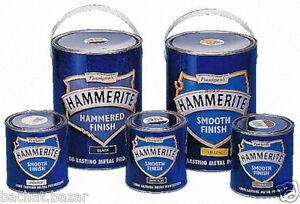Hammerite Metal Paint Hammered - Smooth Finish 250ml ...
