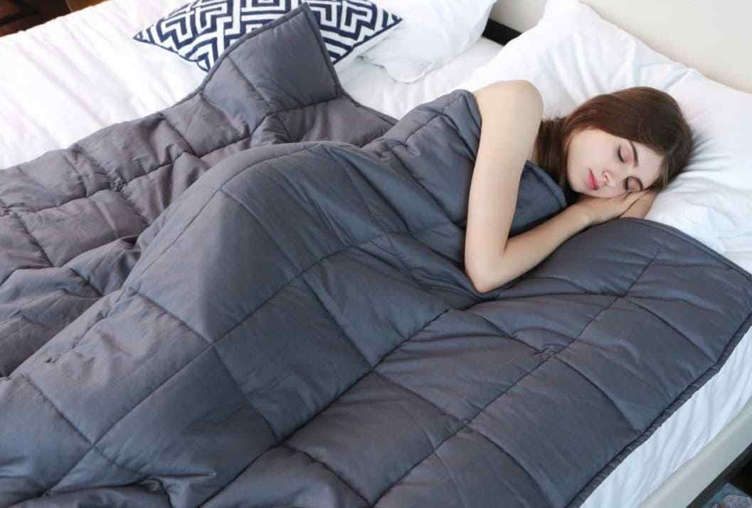 """Weighted Blanket 15lbs 60x80"""" Heavy Full Queen Size for Adul"""