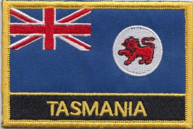 Australia Tasmania State Flag Embroidered Patch Badge - Sew or Iron on
