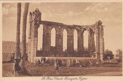 CYPRUS POSTCARD SAINT PETER'S CHURCH FAMAGUSTA GLASZNER 1920 S