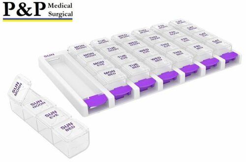 Weekly AM/PM Pill Box Portable Travel Case Prescription Organizer Box of 1