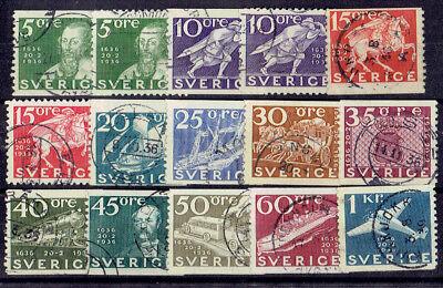 Schweden o MiNr 227 - 238 A+B Post Verkehrsmittel