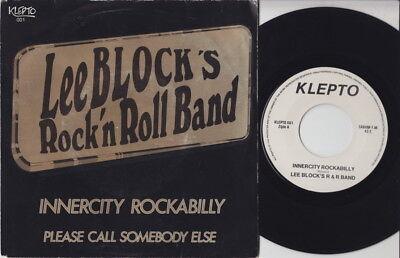 Lee BLOCK * 70's Belgian Neo ROCKABILLY TEDDY BOYS 45 * Listen!