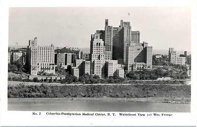 NEW YORK CITY–Columbia-Presbyterian Medical Center Waterfront View Real Photo