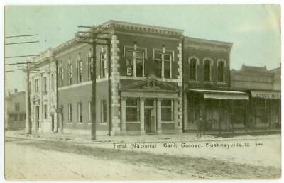 1911 Pinckneyville Illinois First National Bank Corner ()