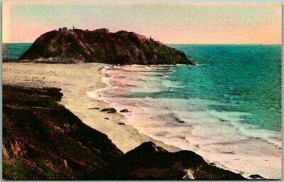 Big Sur / Coast Highway 1 California Postcard BUG SUR LODGE Hand-Colored 1945 Big Sur Coast Highway