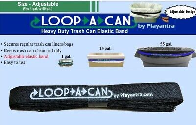 Trash Can Rubber Band Patented Adjustable Garbage Can Band