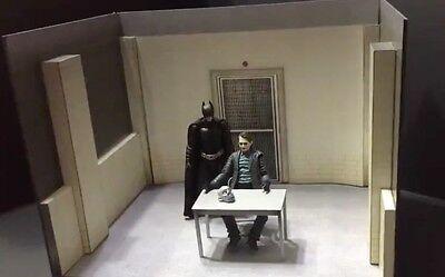 "FIG-IRK: 1/12 scale Interrogation Room Diorama Kit for 6"" Batman Joker Figures"