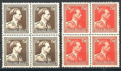 BELGIE 845/846 Leopold III ** postfris blok van vier