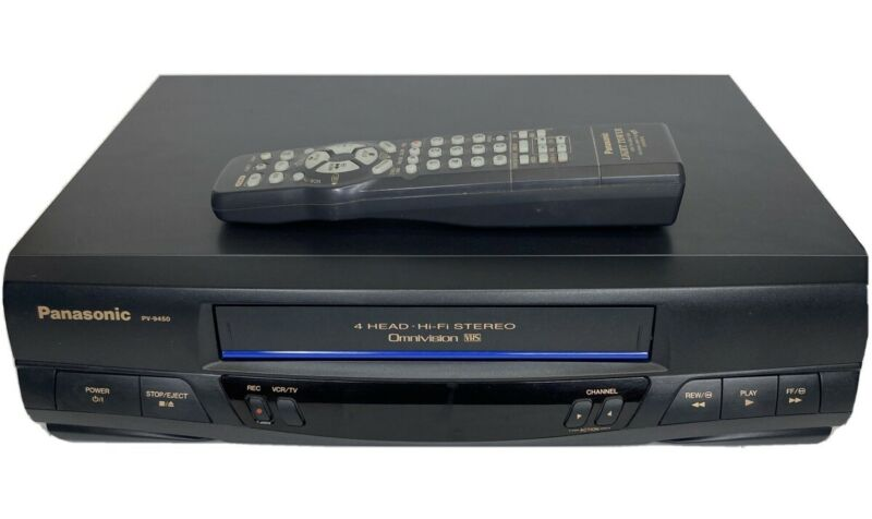 Panasonic PV-9450 Hifi VCR Video Recorder Omnivision W/ Remote Excellent!